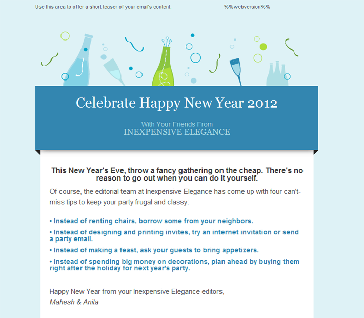 Happy Holidays Email Templates For New Year 2013 Christmas Html